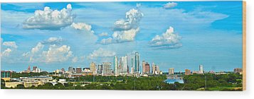 Austin Cityscape Wood Print by Andrew Nourse