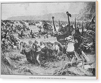 Balkan Insurgency, 1876 Wood Print by Granger
