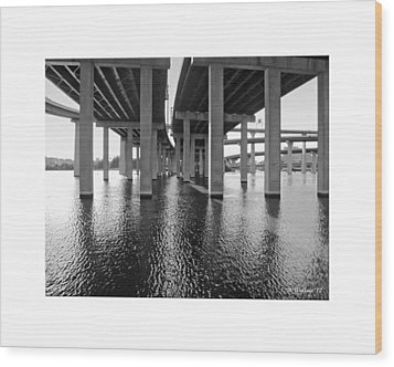 Baltimore By-pass Wood Print by Brian Wallace