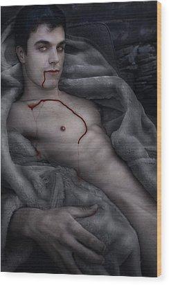 Blood Lust Wood Print by John Clum