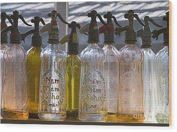 Bottle Of Water   Wood Print by Odon Czintos