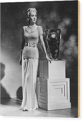 Carole Landis, Ca. 1941 Wood Print by Everett