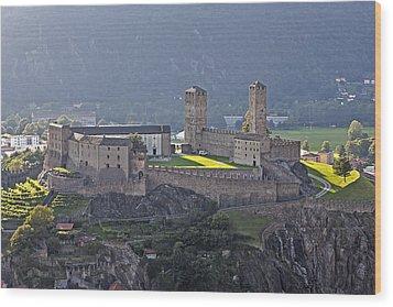 Castel Grande - Bellinzona Wood Print by Joana Kruse
