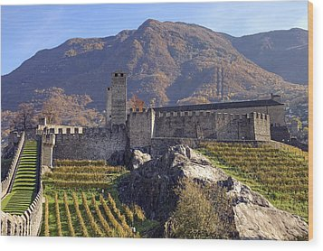 Castelgrande - Bellinzona Wood Print by Joana Kruse
