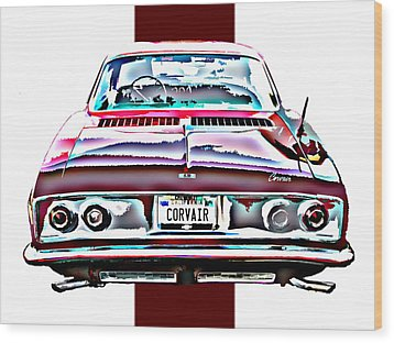 Chevy Corvair Rear Study Wood Print by Samuel Sheats