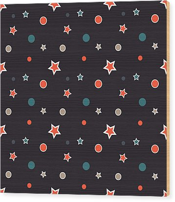 Christmas Stars Wood Print by Design Windmill
