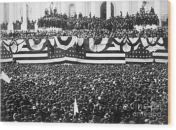 Clevelands Inauguration Wood Print by Granger
