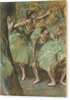 Dancers Wood Print by Edgar Degas