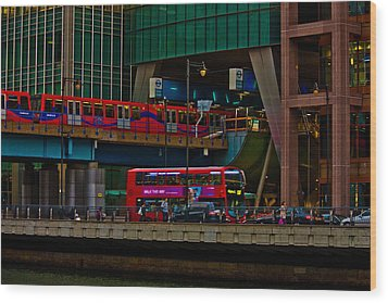 Docklands London Wood Print by Dawn OConnor