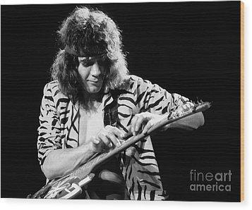 Eddie Van Halen 1984 Wood Print by Chris Walter
