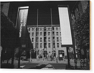 Entrance To The Albert Dock And Beatles Museum Liverpool Merseyside England Uk Wood Print by Joe Fox