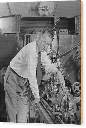 Ernest Orlando Lawrence 1901-1958 Wood Print by Everett