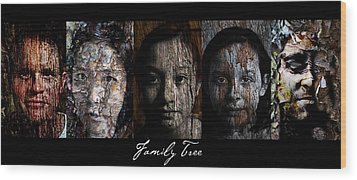 Family Tree Wood Print by Christopher Gaston