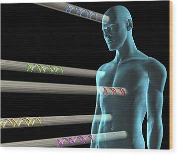 Gene Therapy, Conceptual Artwork Wood Print by Laguna Design