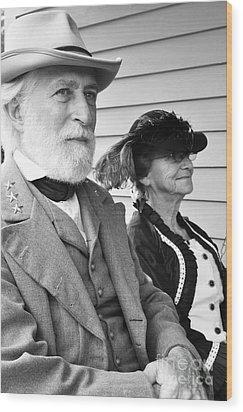 General Lee And Mary Custis Lee Wood Print by Thomas R Fletcher