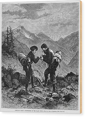 Gold Prospectors, 1876 Wood Print by Granger