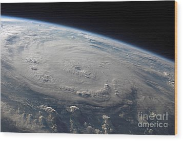 Hurricane Felix Over The Caribbean Sea Wood Print by Stocktrek Images