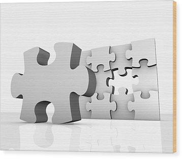 Jigsaw Puzzle, Artwork Wood Print by Pasieka