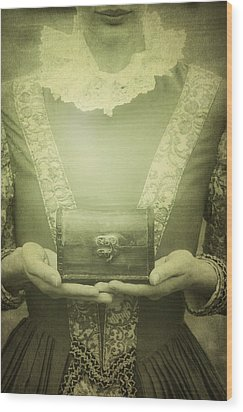 Lady With A Chest Wood Print by Joana Kruse