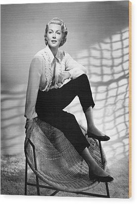 Lana Turner, 1950s Wood Print by Everett