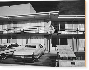 Lorraine Hotel Site Of The Murder Of Martin Luther King Now The National Civil Rights Museum Memphis Wood Print by Joe Fox