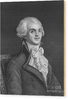 Maximilien Robespierre Wood Print by Granger