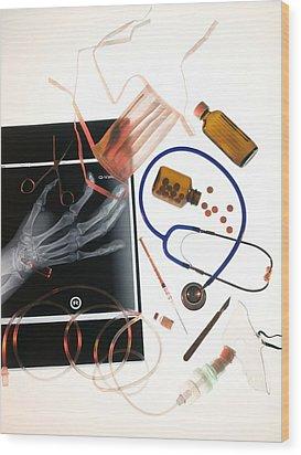 Medical Treatment, Conceptual Image Wood Print by Tek Image