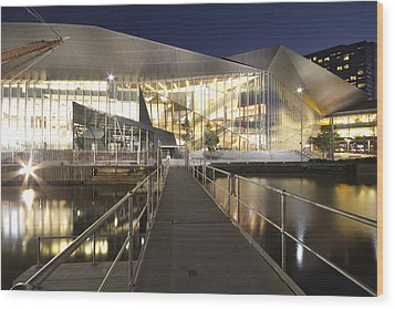 Melbourne Convention Center Wood Print by Douglas Barnard