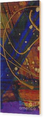 Mickey's Triptych - Cosmos I Wood Print by Angela L Walker