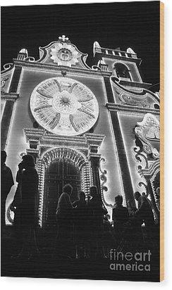 Nighttime Religious Celebrations Wood Print by Gaspar Avila