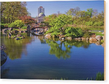 Osaka Japanese Garden Wood Print by Jonah  Anderson