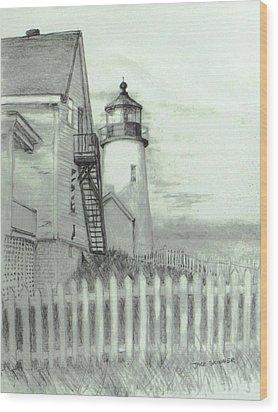 Pemaquid Lighthouse  Wood Print by Jack Skinner