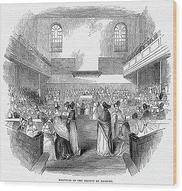 Quaker Meeting, 1843 Wood Print by Granger