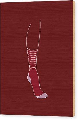 Red Sock Wood Print by Frank Tschakert