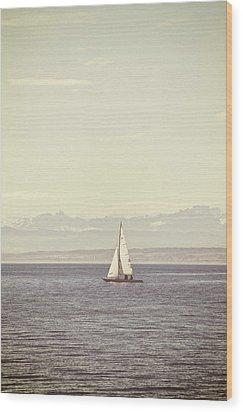 Sailing Boat Wood Print by Joana Kruse