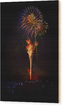 Small Town Celebration Wood Print by David Hahn