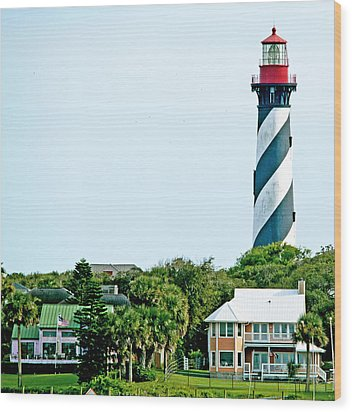 St. Augustine Lighthouse Wood Print by Kenneth Albin