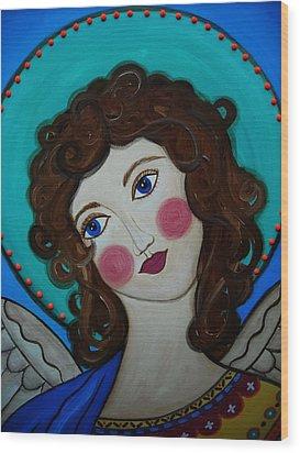 St Michael Archangel Wood Print by Pristine Cartera Turkus