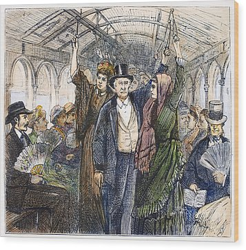 Streetcar, 1876 Wood Print by Granger