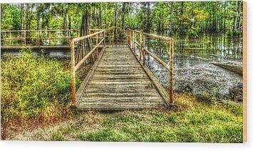 Swamp Dock Wood Print by Ester  Rogers