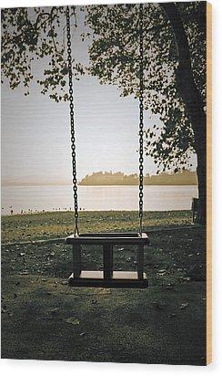 Swing Wood Print by Joana Kruse