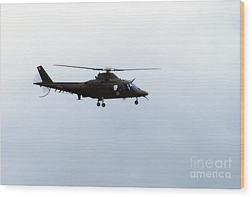 The Agusta A-109 Helicopter Wood Print by Luc De Jaeger