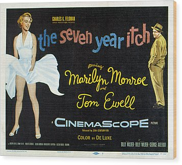 The Seven Year Itch, Marilyn Monroe Wood Print by Everett