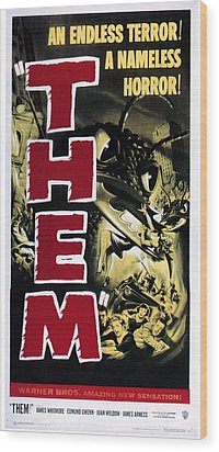 Them, 1954 Wood Print by Everett