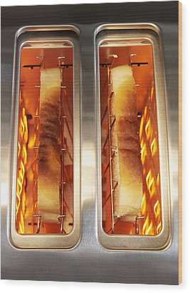 Toast Wood Print by Mark Sykes