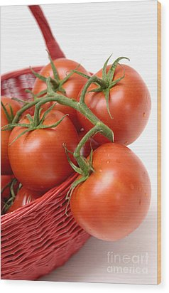 Tomatoes Wood Print by Bernard Jaubert
