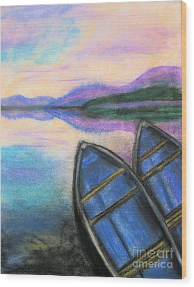 Twilight At Rest Wood Print by Judy Via-Wolff