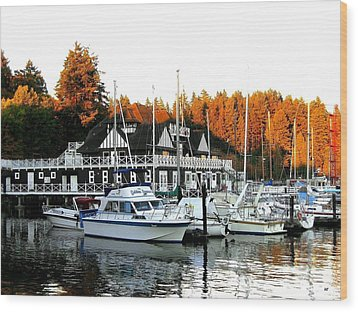 Vancouver Rowing Club Wood Print by Will Borden