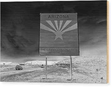 Welcome Sign Wood Print by David Lee Thompson