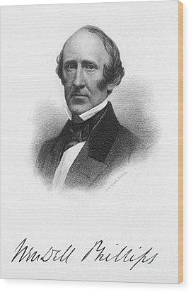 Wendell Phillips (1811-1884) Wood Print by Granger